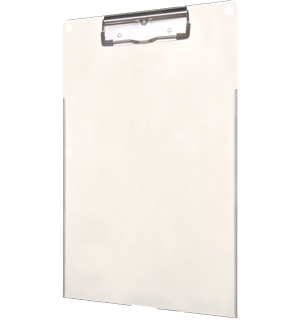 Clipboard holds iPad and Paper